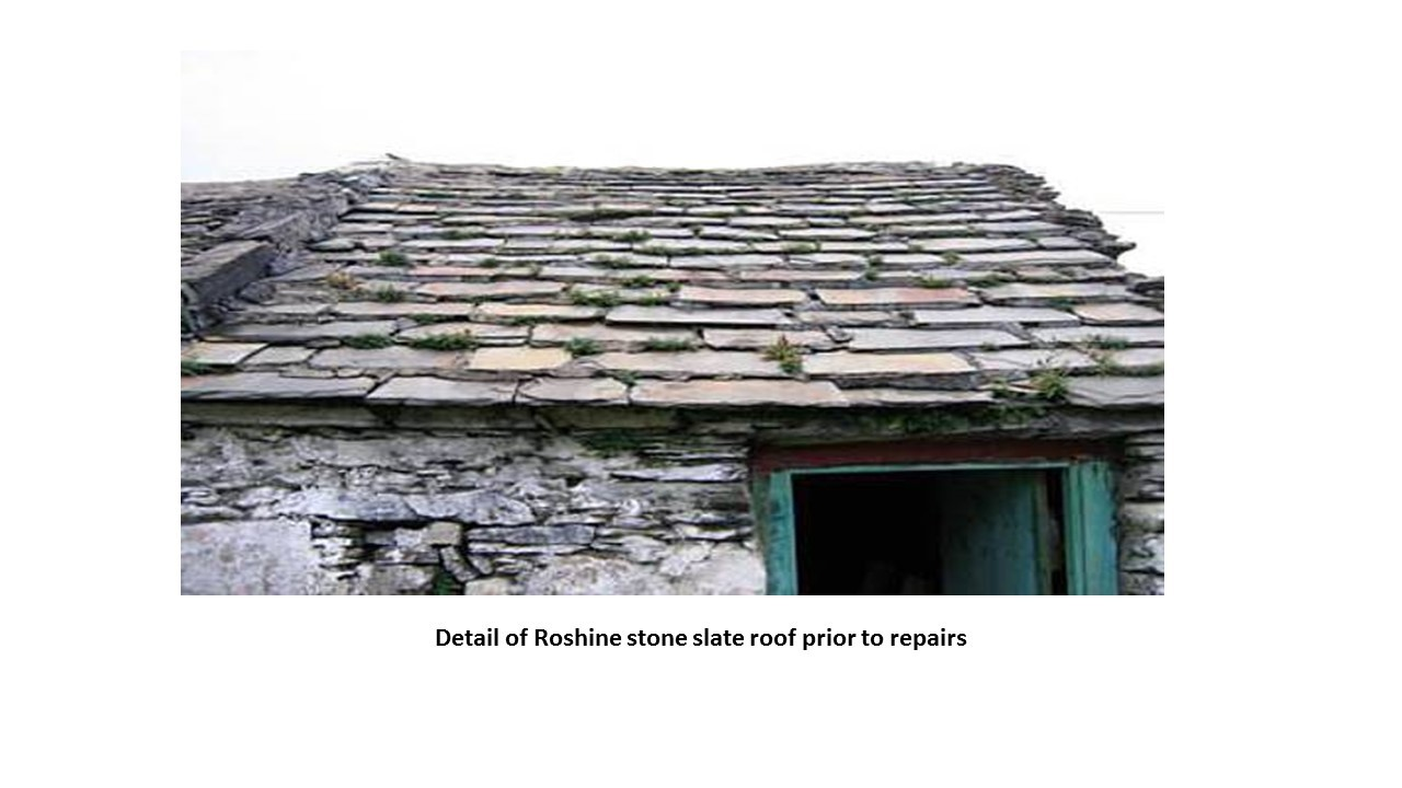 Stone Slated Roof Barn Donegal 1