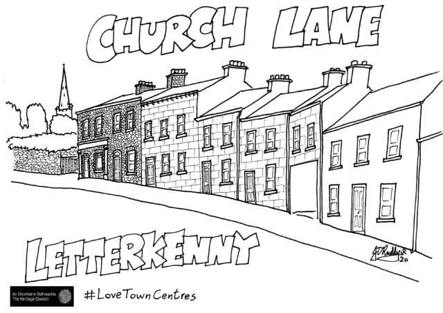 Ireland's Town Centres- Colouring Series for Kids Banner Photo