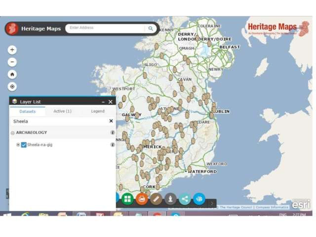 Map Of Ireland Heritage Sites.Launch Of Sheela Na Gigs Map Heritage Council
