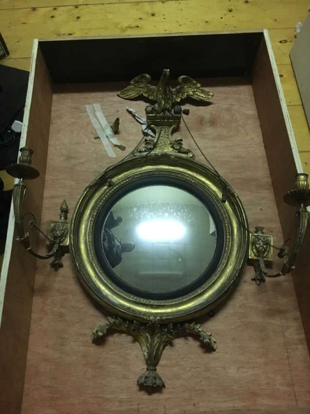 Conservation of pair of Jackson Dublin mirrors 1810 for public display Banner Photo