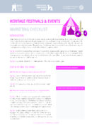 Heritage Festivals and Events: Marketing Checklist